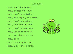 We used these Spanish folk songs as shared reading in my Kindergarten classroom!
