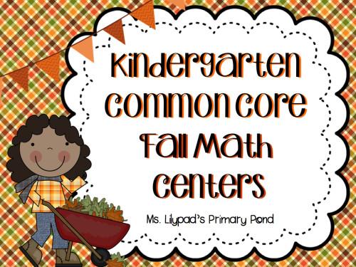 Kindergarten Fall Math Centers Pack.001