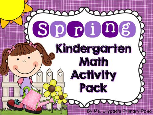 Kindergarten Spring Math Centers.001