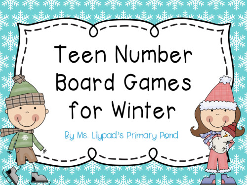 Teen Number Board Games for Winter.001