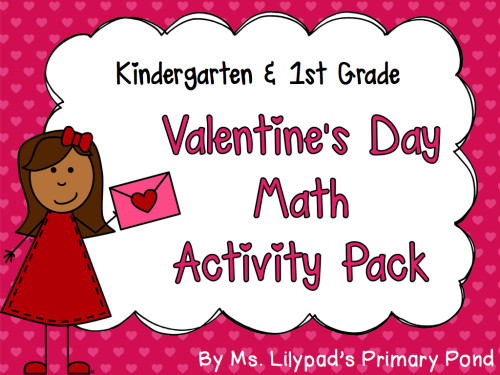Valentine's Day Math Centers for K-1.001