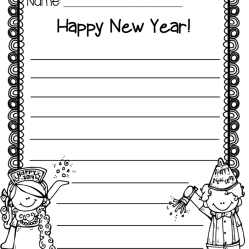 New Year's Writing Paper Freebie