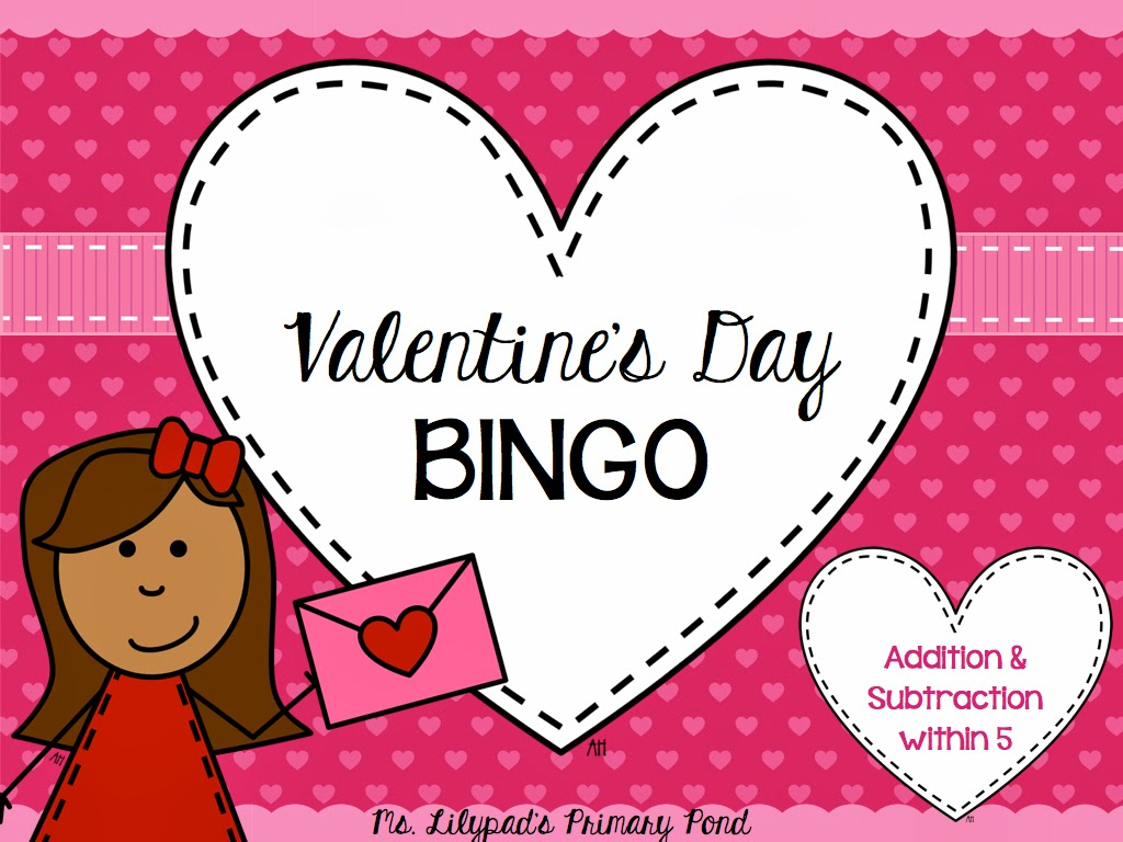 Valentines Day Bingo Games Learning at the Primary Pond – Valentines Bingo Cards