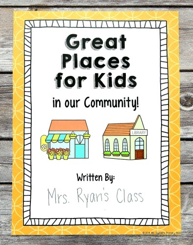 Opinion Writing Class Project for First Grade