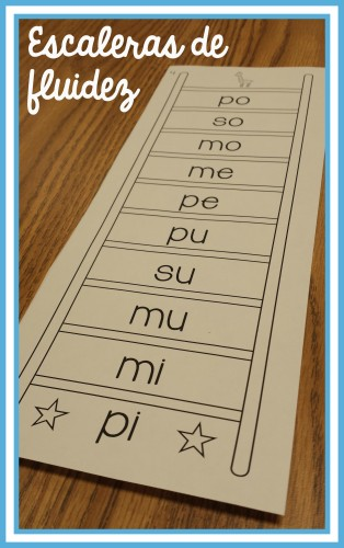 Spanish Fluency Ladder with Open Syllables