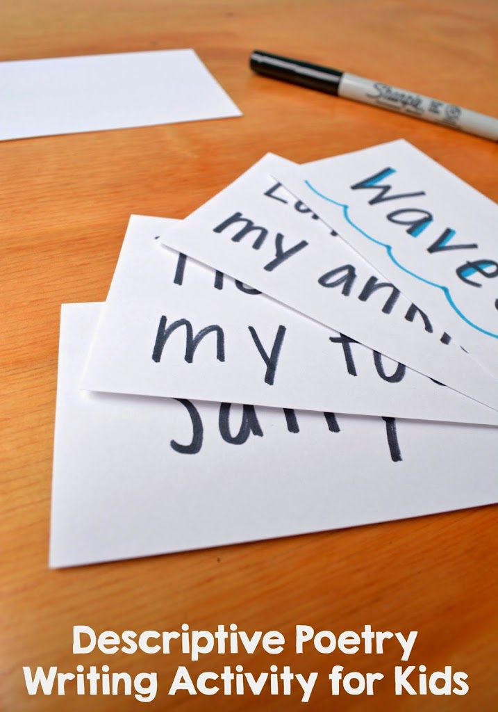 descriptive words writing activity