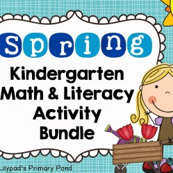 Spring Centers for Kindergarten and First Grade (and a FREE spring math activity!)