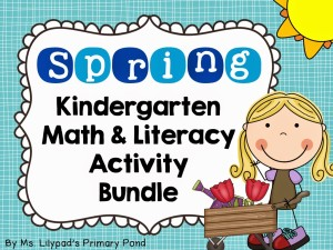 Spring Centers for Kindergarten and First Grade (and a FREE spring ...