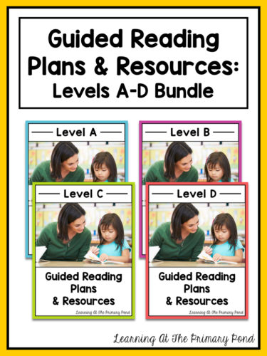 ABCD Guided Reading Bundle for Kindergarten