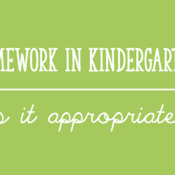 Kindergarten Homework:  Is It Appropriate?