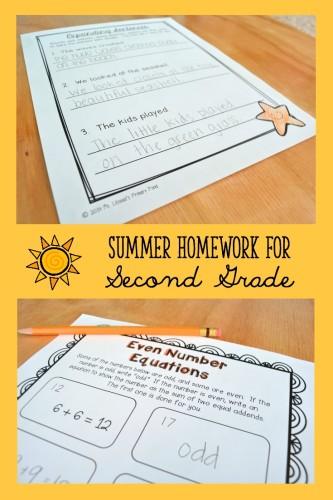 Summer Homework Second Grade Collage 3
