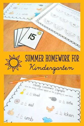 Summer Homework for Kinder Collage 3