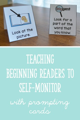 How to use prompting cards to teach beginning readers to monitor their reading
