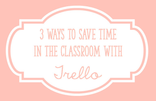 Trello is a FREE tool that you can use in your classroom! Use it for organizing student data, anecdotal notes, and your to-do lists. The best part is that you can also use it on your phone and tablet!