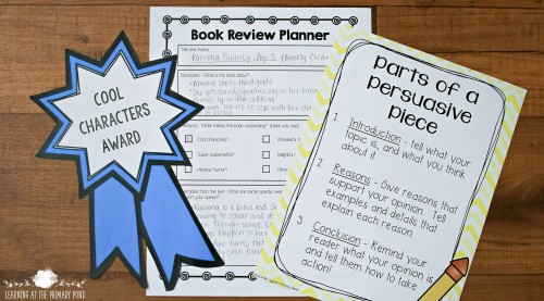 """In our second grade classroom, we gave out """"Book Awards"""" for the best books in different categories! The kids loved this engaging opinion / persuasive writing project. - Learning At The Primary Pond"""