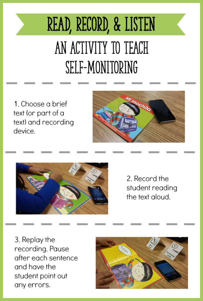 "How to use a ""Read, Record, and Listen"" activity to get students to self-monitor their reading! Great for beginning readers or readers at any level (just use an article instead of a little book). - Learning At The Primary Pond"