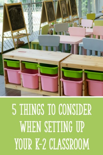 Make sure to think about these 5 things when you are setting up your classroom!