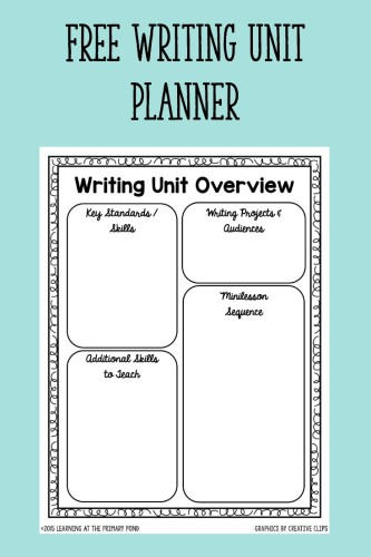 Download this free planner to help you plan your writing workshop units!