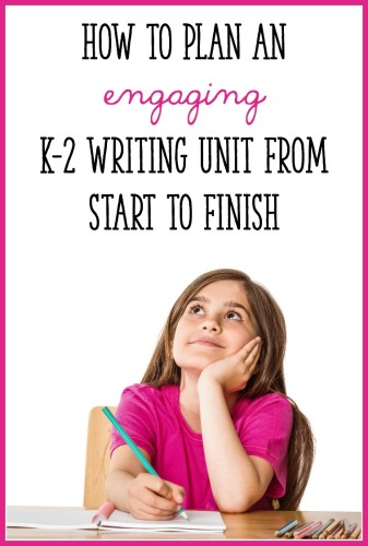 This post takes you step by step through the process of planning an outstanding writing unit for Kindergarten, 1st, or 2nd grade!