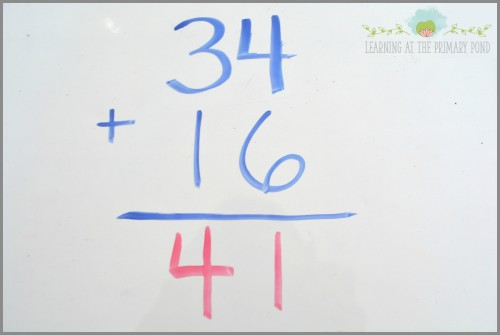 Do your students sometimes solve problems this way? They likely don't understand what they are really doing when they are carrying a ten.  This blog post describes how to do Number Talks in your classroom, to help students avoid these kinds of mistakes!