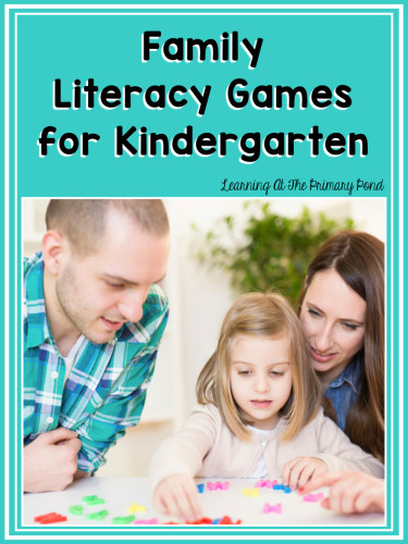 Family Literacy Games for Kindergarten Cover.001