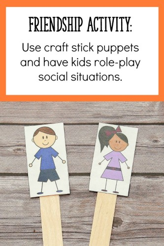 Click through to the post to read about 2 more friendship activities perfect for 4-7 year olds!