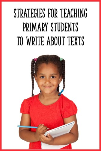 This post explains 4 ways to get your Kindergarten, first, or second grade students writing about texts! Perfect for opinion writing units, or just teaching your kids to respond to a text-based question in writing.