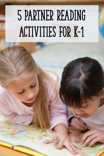 Kindergarteners and first graders can learn so much from partner reading! Read this post for 5 activities that go beyond taking turns reading.