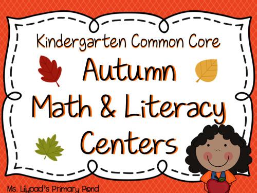 Bundled Math & Literacy Centers Kinder.001
