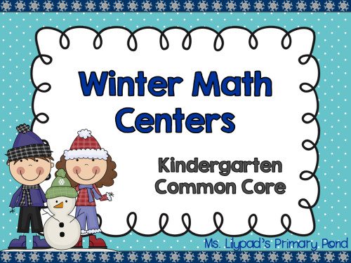 Kindergarten Winter Math Centers PREVIEW.001