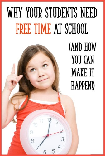 Finnish schools give students LOTS of unstructured free time and recess, and they have some of the most successful schools in the world!  Read this post to find out how to find time for free time in the school day.