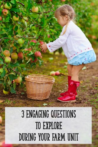 Ideas, activities, and engaging questions for your farm unit!  Perfect for preschool, K, or first grade.