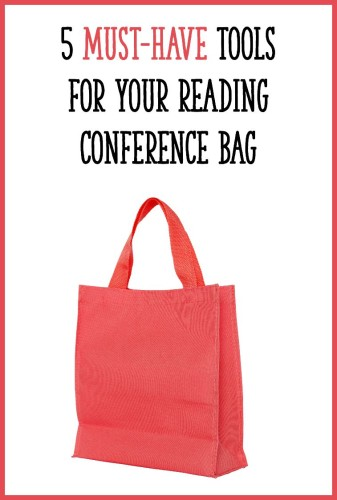 I always carry a small tote bag around with me when doing individual reading conferences with my students. Click through to the post to read about the 5 things that I always keep in my bag!