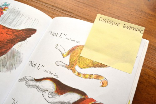 Use sticky notes to mark places in a book where you can teach students specific strategies during a reading conference.