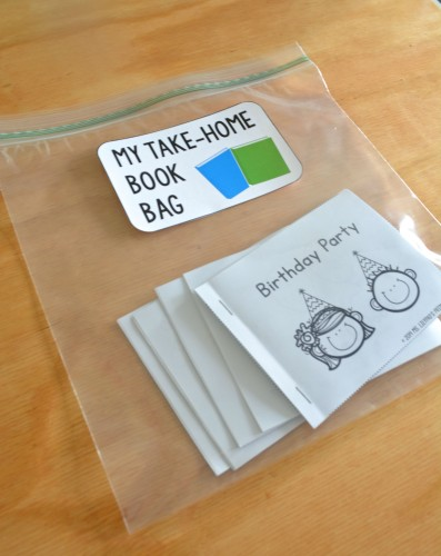 Use these printable books in students' take home book bags! Kids can read and reread them at home with their families, and you won't have to worry about making sure the books come back to school.