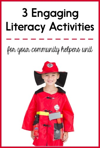 This post has 3 different activities you can do to integrate a community helpers theme with your literacy block! Click through to read about vocabulary activities, shared writing activities, and more.