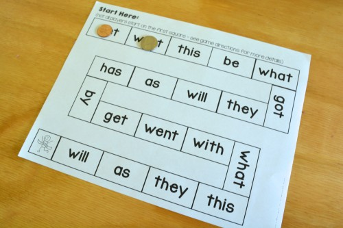 Sight words board game - for Kindergarten families!