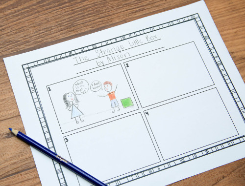 This is an example of one of the comic strip writing activities I've had my 1st and 2nd grade students do. Learning how to include dialogue through speech bubbles is helpful in teaching them how to include dialogue in traditional writing!