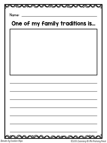 FREE family traditions page! Great for the holidays!