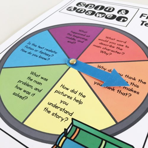 Guided reading activity - have students use this spinner after reading a text!