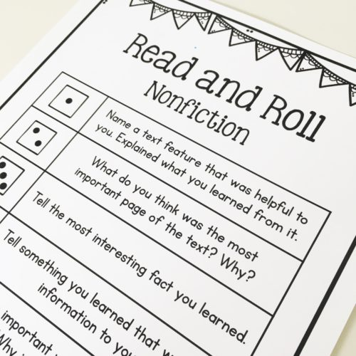 Read and roll comprehension game for guided reading!