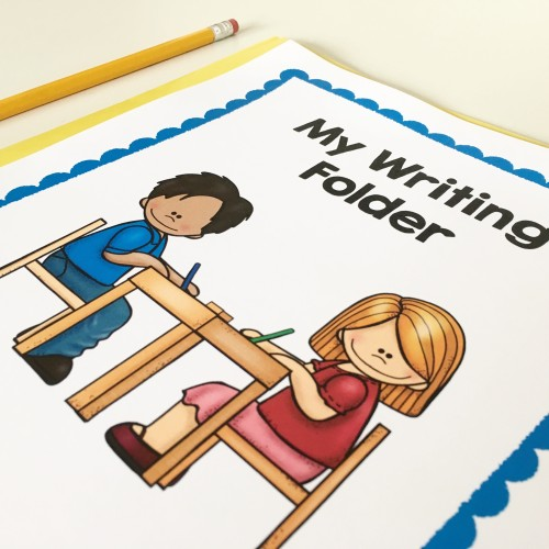 Click through to the post to read why this teacher always uses writing folders instead of writing journals - and download a ton of writing folder printable for free!