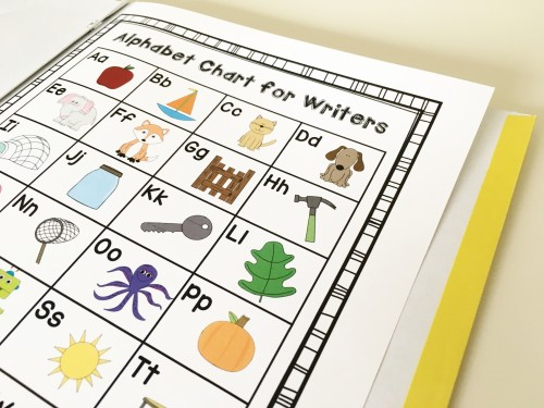 Download this FREE alphabet chart and other literacy materials in this post!