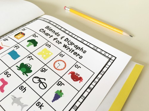 Download this FREE blends and digraphs chart and read a post about phonics interventions!