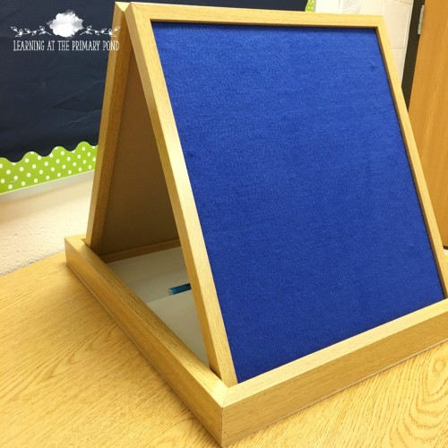 I use this tabletop dry erase board and flannel board to help students practice retelling!