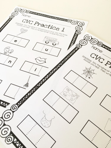 Use these FREE sheets to give students practice with spelling CVC words!