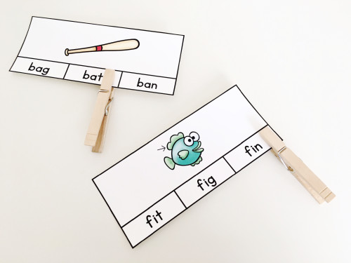 Use these FREE cards to teach students to pay attention to the last letter in a word!