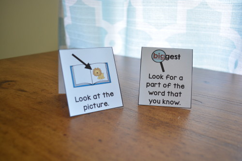 Grab these reading strategy cards for FREE! (Perfect for beginning or struggling readers)