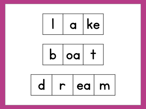 Elkonin boxes can be used to teach vowel spelling patterns and show students that more than one letter can make up a single sound!