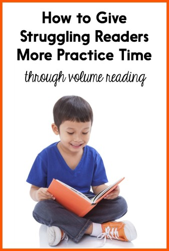 Struggling readers need a LOT of time to practice real reading. This post has tips for helping you create more time for reading in your classroom, as well as overcome common obstacles!